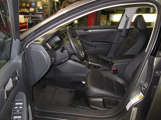 Midsize car Drivers door interior